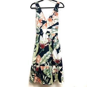 Ann Taylor Loft Floral Print Summer Linen Dress